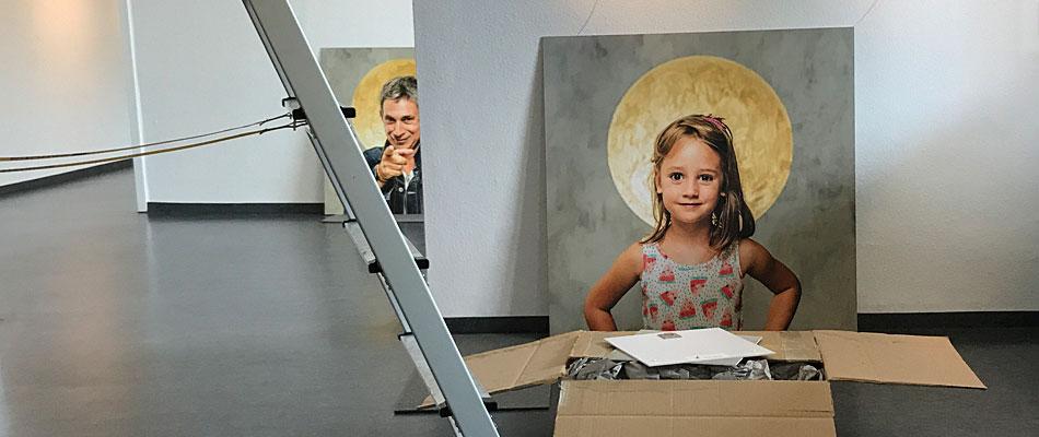Halo Schwabach Ausstellungsaufbau